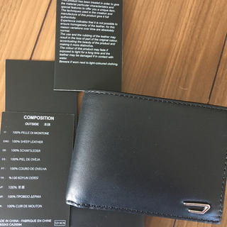 DIESEL - 【匿名配送】ディーゼル 二つ折り財布 レザー  黒