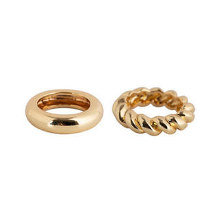 BEAUTY&YOUTH UNITED ARROWS - Simple ring set gold No.158