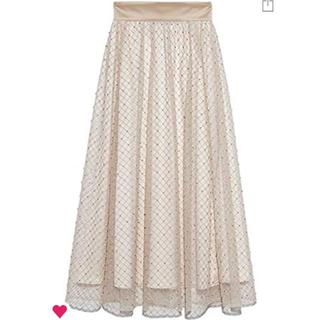 リリーブラウン(Lily Brown)のLily Brown ビーズ刺繍ロングスカート(ロングスカート)