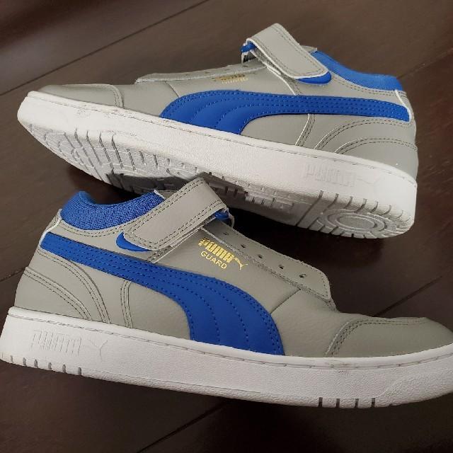 【レディース用25cm】PUMA スニーカー/グレー&ブルー レディースの靴/シューズ(スニーカー)の商品写真