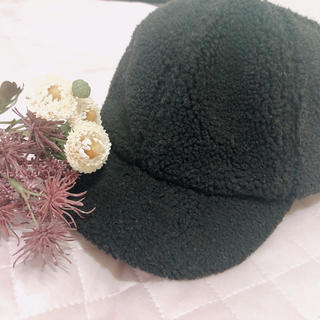 casiTA - 🐾 ブラック モコモコ キャップ 🐾