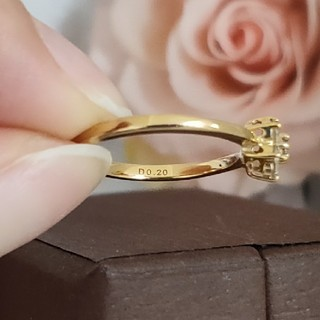 ダイヤモンド   フラワーリング   K10(リング(指輪))