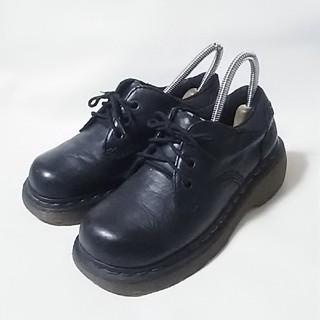 ドクターマーチン(Dr.Martens)の 希少!ドクターマーチン高級厚底ダッドシューズ人気黒ビンテージ!超希少23   (ローファー/革靴)