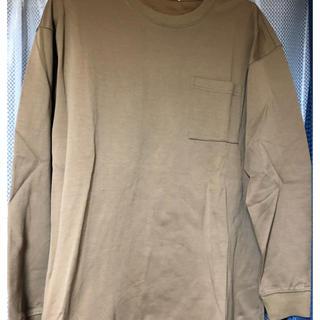 ジーユー(GU)のGU ブラウンロンT Mサイズ(Tシャツ/カットソー(七分/長袖))