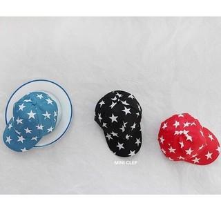 韓国ファッション★韓国子供服 子供用 帽子 キャップ 青 黒 赤
