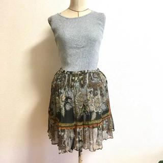 スピックアンドスパン(Spick and Span)のボタニカル柄♡ひらひら揺れるスカート(ミニスカート)