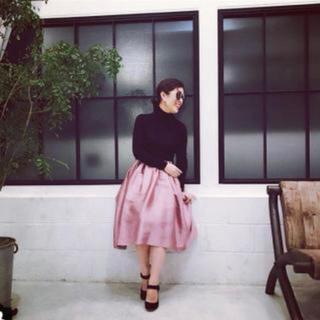 デミルクスビームス(Demi-Luxe BEAMS)の新品 Demi-Luxe BEAMS スカート ピンク 38 大草直子(ひざ丈スカート)