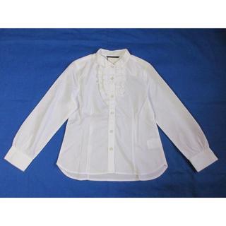 COMME CA ISM - コムサイズム ウィングカラー白長袖ブラウス120cm
