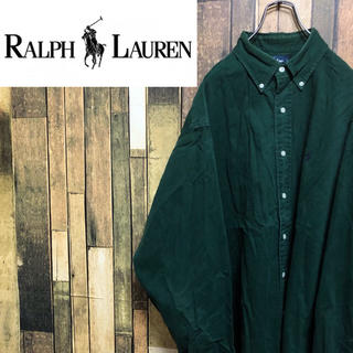 Ralph Lauren - 【激レア】ラルフローレン☆USA製ワンポイント刺繍ロゴチノビッグシャツ 90s