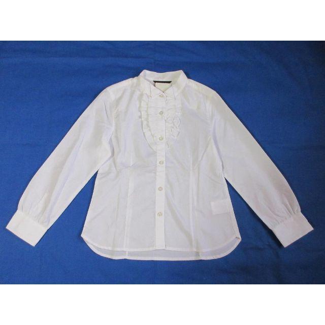 COMME CA ISM(コムサイズム)のコムサイズム ウィングカラー白長袖ブラウス150cm キッズ/ベビー/マタニティのキッズ服 女の子用(90cm~)(ブラウス)の商品写真