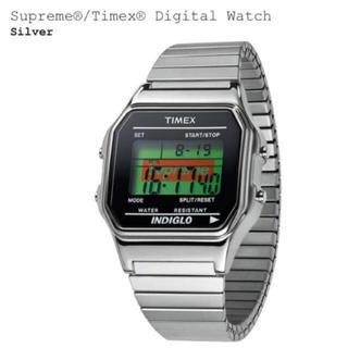 【未使用品】Supreme:Timex Digital Watch シルバー