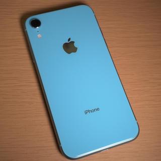 Apple - iPhone XR ブルー 128GB アップル購入SIMフリー