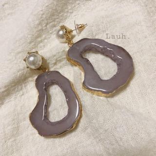 フレイアイディー(FRAY I.D)のj22.fake agate stone pierce(lavender)(ピアス)