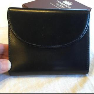 ホワイトハウスコックス(WHITEHOUSE COX)のホワイトハウスコックス 三つ折り財布 ブラック(折り財布)