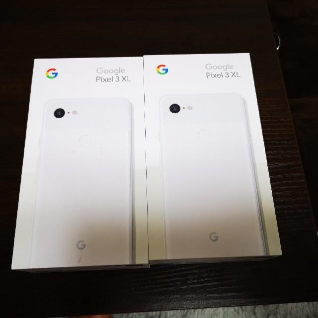 GooglePixel 3XL ホワイト二台 新品未使用 スマホ/家電/カメラのスマートフォン/携帯電話(スマートフォン本体)の商品写真