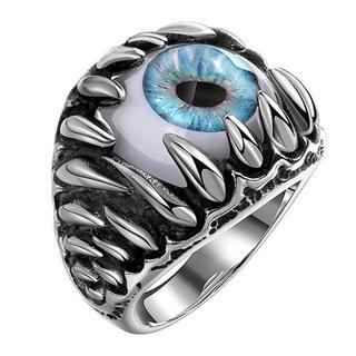 【超人気商品】特価高品質!ゴシックなステンレスリング(眼球)  15、16号相当(リング(指輪))