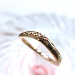 カナルヨンドシー(canal4℃)の☆canal4℃ K10PG ダイヤモンド 4p エタニティ リング 8号 指輪(リング(指輪))