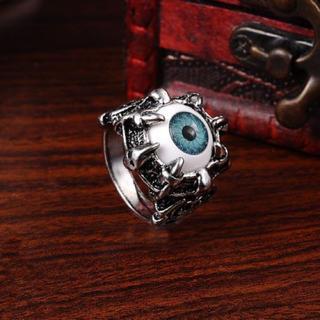 特価高品質!ゴシックなステンレスリング(眼球) メンズ 15、16号相当(リング(指輪))