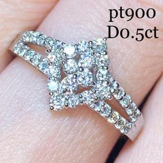 DE BEERS - pt900 ダイヤモンドリング 0.5ct 大丸百貨店購入 美品
