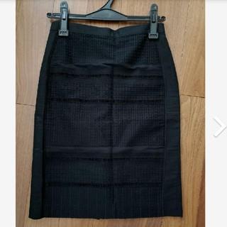 デプレ(DES PRES)のデプレ コットンレースタイトスカート(ひざ丈スカート)