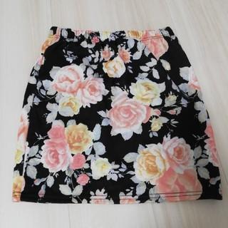 LIP SERVICE - LIPSERVICE リップサービス 花柄スカート ミニスカート ギャル服 黒