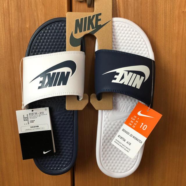 NIKE(ナイキ)のNIKE ナイキ ベナッシ ミスマッチ ネイビー28cm 新品 送料込み メンズの靴/シューズ(サンダル)の商品写真