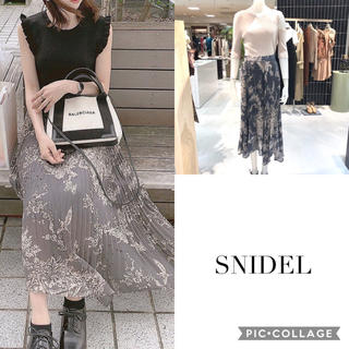 snidel - 【新品タグ付き/今期新作】白石麻衣着用 スナイデル シアープリーツスカート
