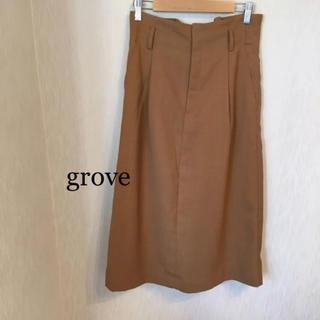 グローブ(grove)のgrove タイトスカート (ロングスカート)