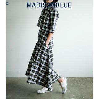 マディソンブルー(MADISONBLUE)の【MADISON BLUEマディソンブルー】グラフチェックパターンミモレスカート(ロングスカート)