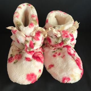 オマケ付き リズリサルームシューズ スリッパ ピンク 花柄 リボン フリーサイズ