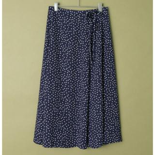 ロッソ(ROSSO)のドット柄リボンスカート(ひざ丈スカート)