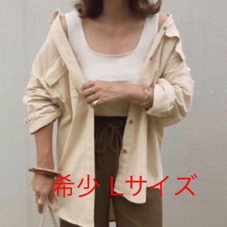 GU - 希少完売品即購入可能新品タグ付guコーデュロイオーバーサイズシャツナチュラルL