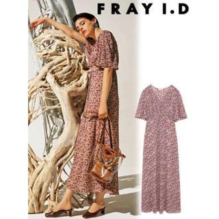フレイアイディー(FRAY I.D)のフレイアイディー  ヴィンテージカシュワンピース スナイデル リリーブラウン 赤(ロングワンピース/マキシワンピース)