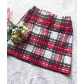 イング(INGNI)の【INGNI】チェック台形スカート(ミニスカート)