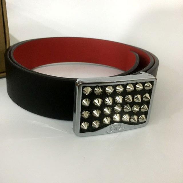 Christian Louboutin(クリスチャンルブタン)のクリスチャンルブタン スタッズ ルイス ベルト ブラック メンズのファッション小物(ベルト)の商品写真