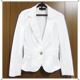 エムプルミエ(M-premier)のMP 白 ホワイト ジャケット(テーラードジャケット)