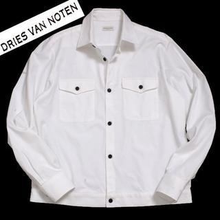 ドリスヴァンノッテン(DRIES VAN NOTEN)の18aw DRIES VAN NOTEN SHIRT JKT size48 ホワ(シャツ)