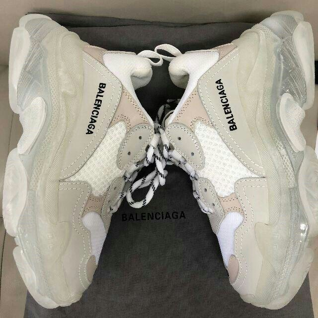 Balenciaga(バレンシアガ)のBALENCIAGA バレンシアガ トリプルエス クリアソール ホワイト メンズの靴/シューズ(スニーカー)の商品写真