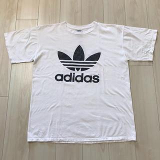 adidas - adidas トレフォイル 90s vintage 万国旗タグ Tシャツ L