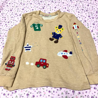 mikihouse - ミキハウス 豪華刺繍 トレーナー 飛行機 ロボット ロケット プッチー君 110