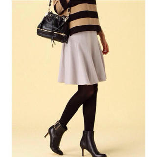 デミルクスビームス(Demi-Luxe BEAMS)のウール グレーフレアスカート (ひざ丈スカート)