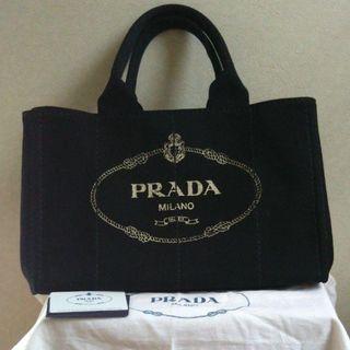 PRADA - 極美品 PRADA プラダ カナパ 黒 Mサイズ