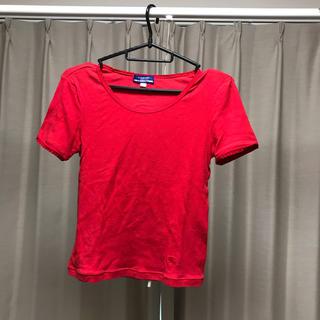 バーバリーブルーレーベル(BURBERRY BLUE LABEL)の【Burberry】半袖赤Tシャツ(Tシャツ(半袖/袖なし))