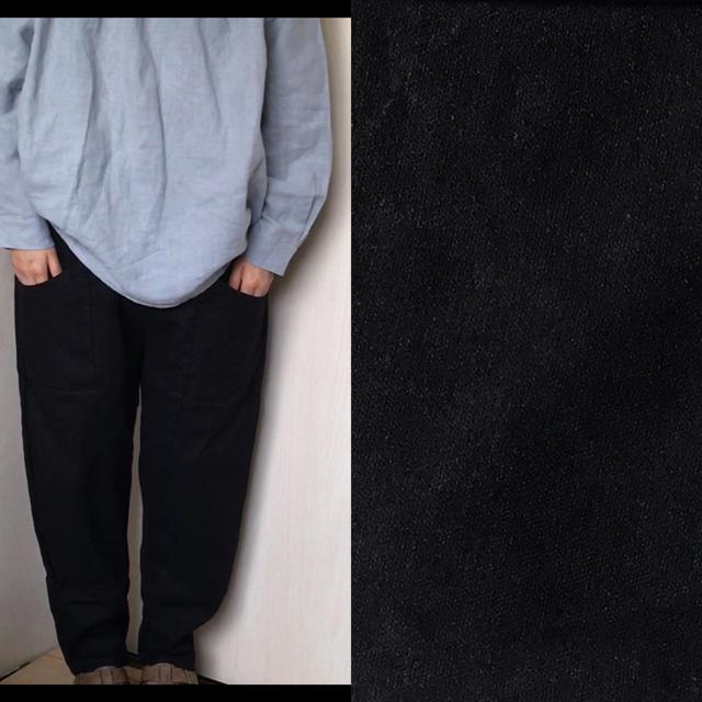 【新品】コットンリネンサルエルパンツ 黒 レディースのパンツ(サルエルパンツ)の商品写真