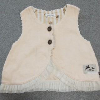 ビケット(Biquette)のBiquette・キムラタン・女の子・チュール・ベスト・95サイズ・ピンク(Tシャツ/カットソー)