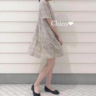 who's who Chico - チェック柄裾ペプラムワンピース❤︎