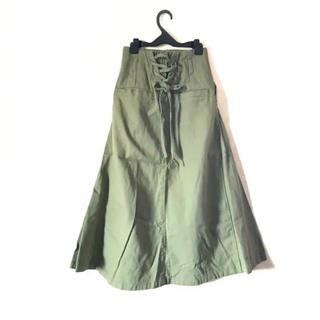 ミスティウーマン(mysty woman)のmystywoman スカート ♡カツラギ&デニム編上げマキシスカート(ロングスカート)