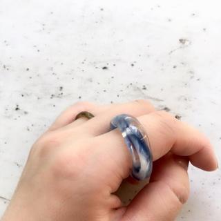 セール☆ブルー べっこう ☆ クリアリング  ☆ 約16号(リング(指輪))