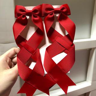アマベル(Amavel)のLOTUS ribbon リボンバレッタS(ヘアアクセサリー)