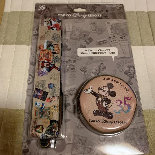 Disney(ディズニー)のディズニー 35周年 カメラストラップ スマホ/家電/カメラのカメラ(その他)の商品写真